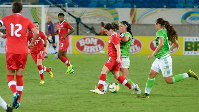 Canadá x México Torneio Internacional de Futebol Feminino Natal Vlademir Alexandre/Allsports (Foto: Vlademir Alexandre/Allsports)