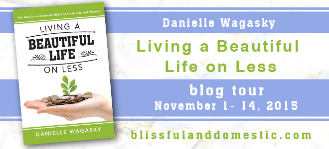 Living a beautiful life on less blog tour banner