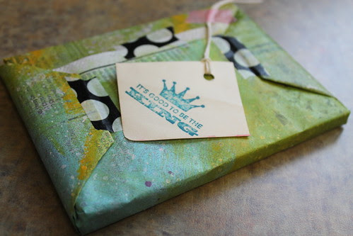 homemade wrapping paper by alteredstatesstudio