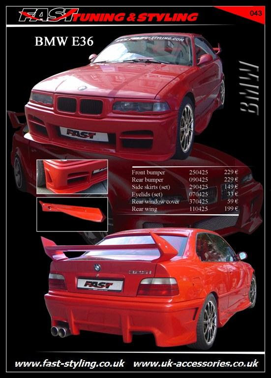 UK Accessories Ltd. BMW E36 RED Body Kit