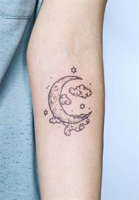 beautiful moon tattoo