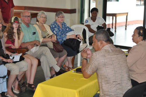 The Mayor of Puerto Cabezas addresses the delegation from Horizons of Friendship.