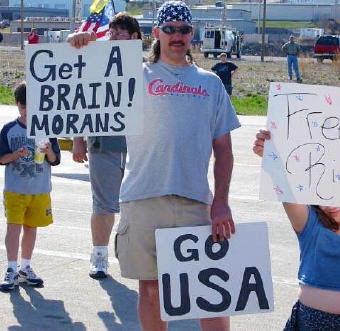 Get a brain, morans
