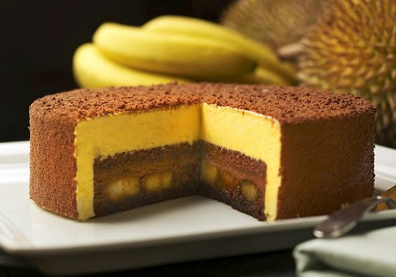 Durian-Banana-Chocolate-Mousse-Cake
