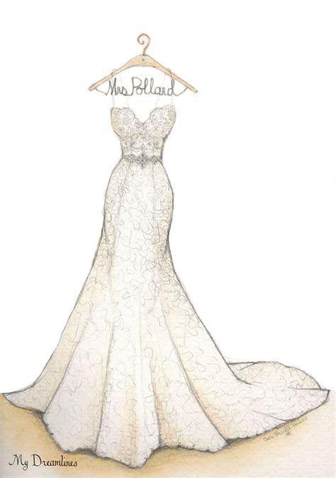 Wedding Dress Sketch Gallery   A Wedding Dress Sketch by