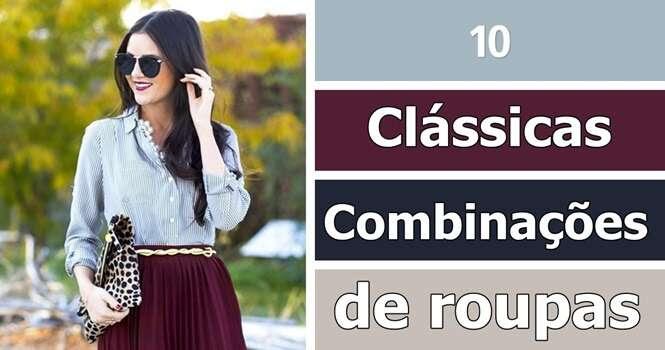 Combinações de roupas clássicas para conseguir uma imagem perfeita