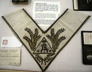 A ceremonial collar belonging to Napoleon Bona...