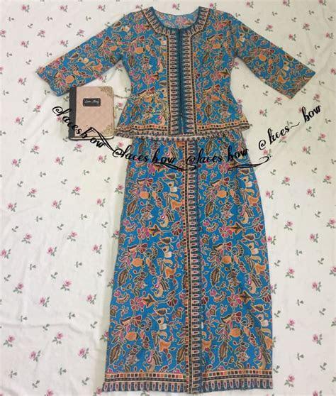 baju kebaya batik fesyen muslimah  piece  carousell