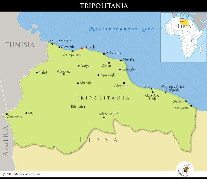 What Region Was Known As Tripolitania Answers