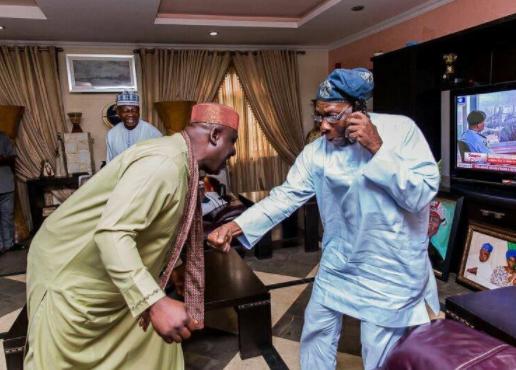 Photo of the day featuring Rochas Okorocha and Olusegun Obasanjo