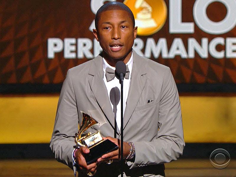 Grammy Awards 2015: Pharrell Williams Wins for Best Pop Solo Performance