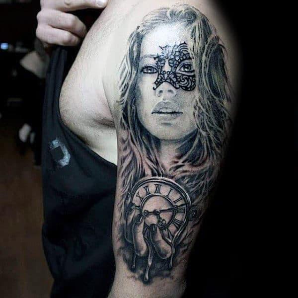 40 Melting Clock Tattoo Designs For Men Salvador Dali Ink Ideas