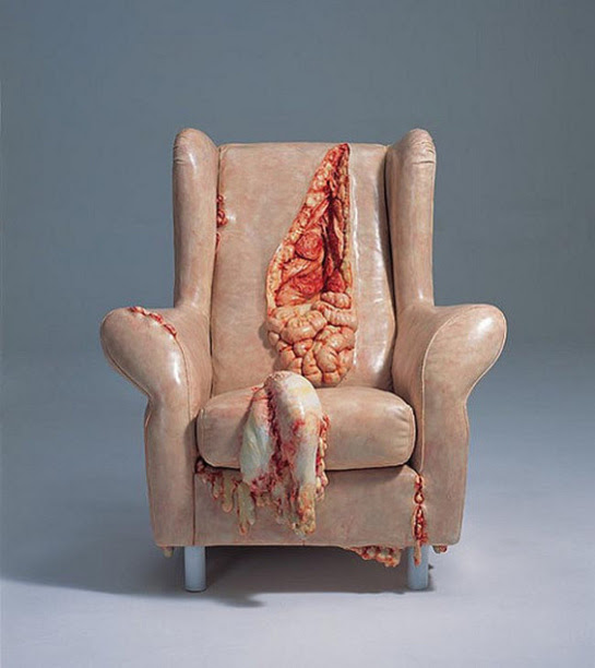 Furniture  Visual Temperature   A Chair That is Spilling its Guts Out