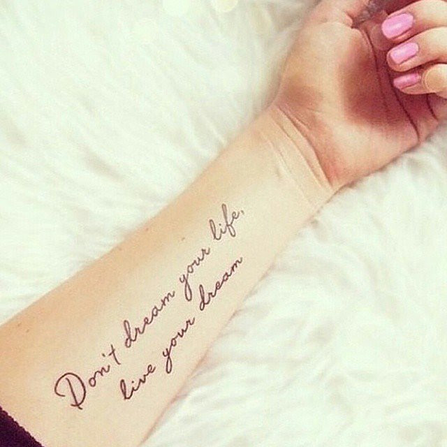 44 Inspirational Quote Tattoos That Will Change Your Perspective