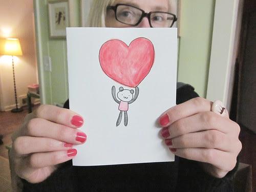 Panda Valentine's Day Card