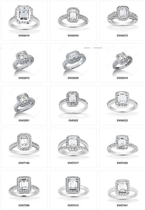 So many different types!!! halo emerald engagement rings