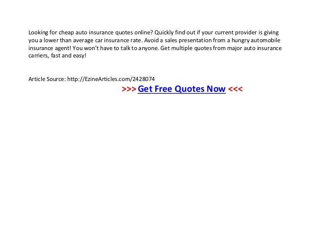 Insurance Quote Online: Insurance Quote Online Ontario