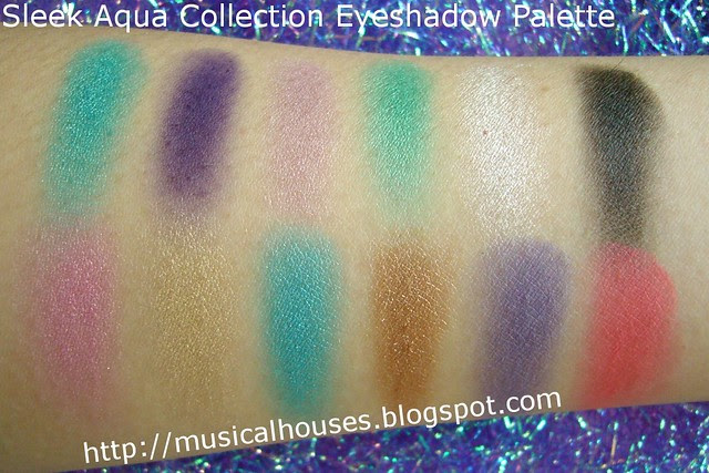 sleek aqua collection palette swatches