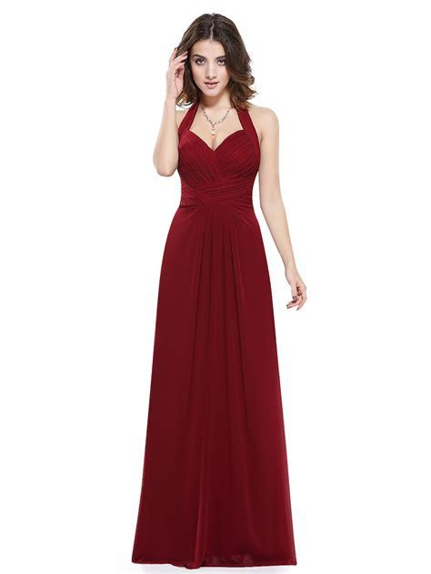 UK Womens Halter Neck Long Prom Bridesmaid Party Maxi