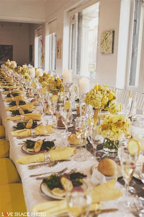 Wedding Wednesday: Lemon Yellow and Dove Grey   Beautiful