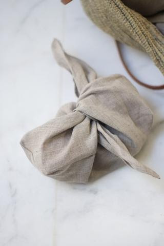 Linen Bento Bags - Love this easy sewing idea!