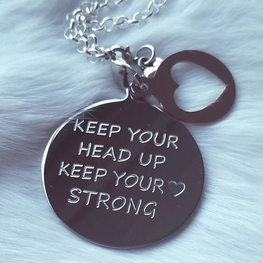 Munt Ketting Keep Your Head Up Creative Bybeau