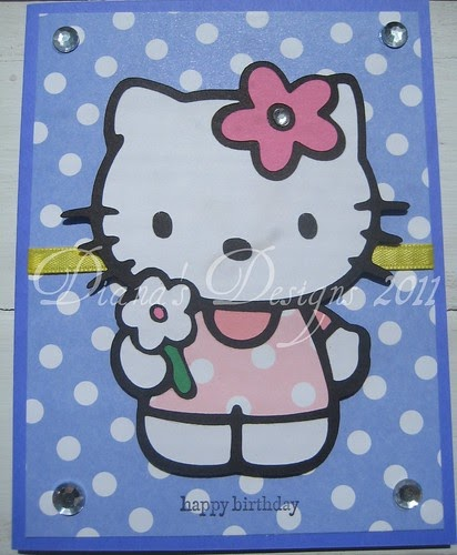 Diana's Designs: Hello Kitty Birthday Card
