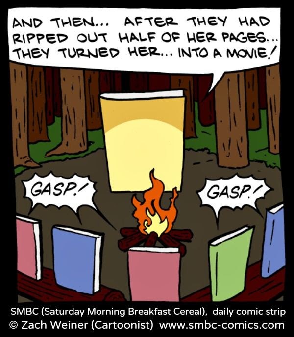 Oh! The horror of it all! SMBC (Saturday Morning Breakfast Cereal) daily strip © Zach Weiner via his site & shop, smbc-comics.com ...  Respect people, respect copyright.  The law requires that you credit the artist. List/Link directly to artist's website.  HOW TO FIND the ORIGINAL WEB SITE of an image: http://pinterest.com/pin/86975836525507659/  PINTEREST on COPYRIGHT:  http://pinterest.com/pin/86975836526856889/  The Golden Rule: http://pinterest.com/pin/86975836525355452/