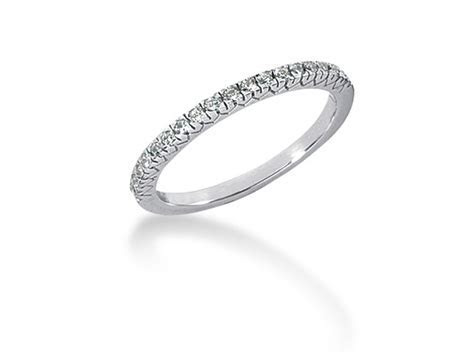 Fishtail V Pave Diamond Wedding Ring Band in 14k White