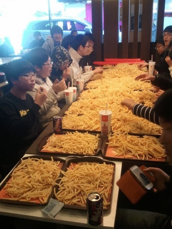 Feast of French Fries - Neatorama