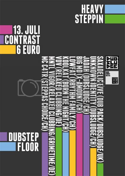 Flyer Contrast Dubstep Floor