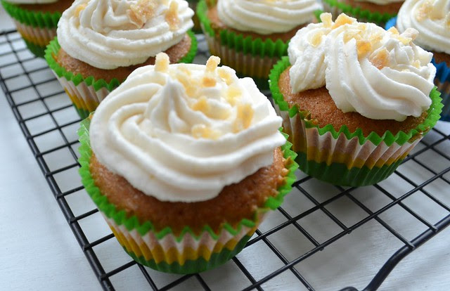 Ginger Beer Cupcakes w/ Ginger Beer Frosting