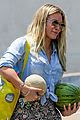 hilary duff shops for melons at whole foods wearing tropical themed pants 05