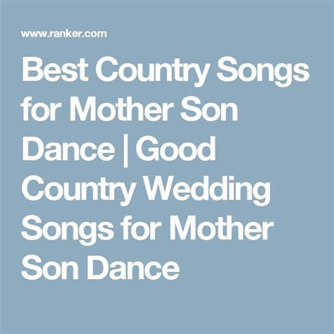 17 Best ideas about Mother Son Dance Songs on Pinterest