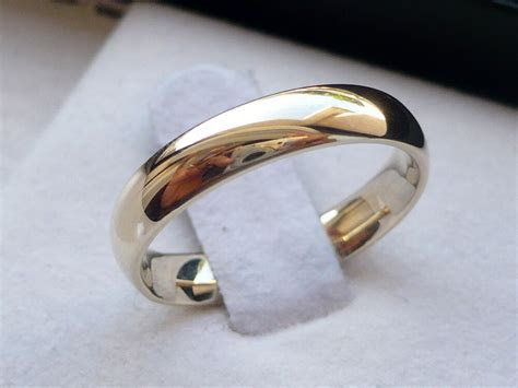 4mm 14K SOLID YELLOW GOLD MEN'S/ WOMEN'S WEDDING BAND RING