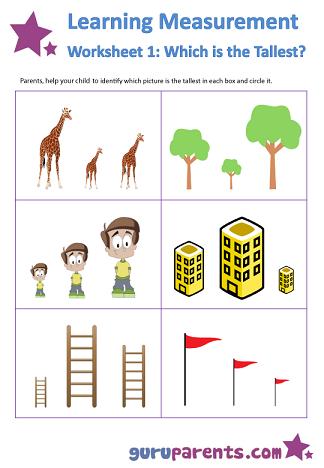 learning measurement worksheet 1