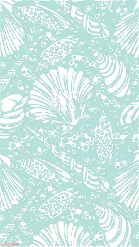 mint seashells summer iphone  wallpaper background