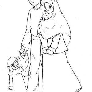 Koleksi Mewarnakan Gambar Muslim Dan Muslimah Azhanco