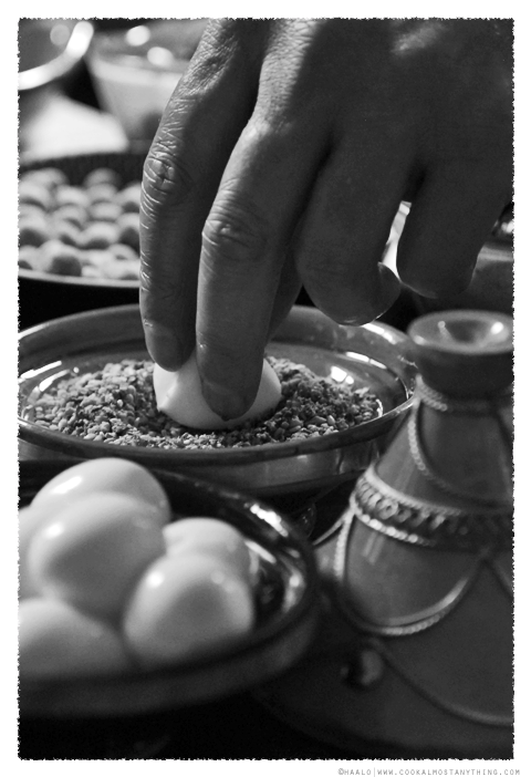 Soft boiled quail eggs with dukkah© by Haalo