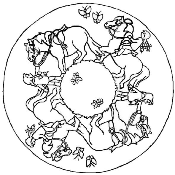 Mandala Pferde 1 | Ausmalbilder zum ausdrucken