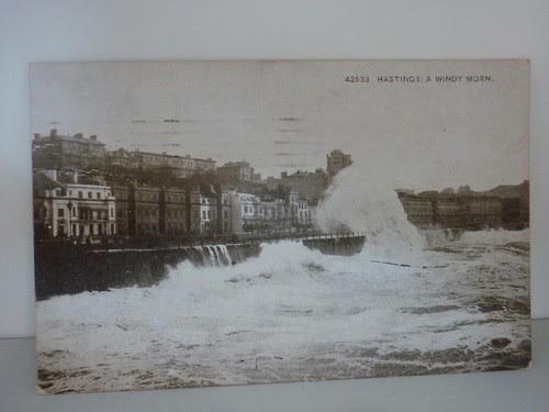 Vintage postcard of Hastings