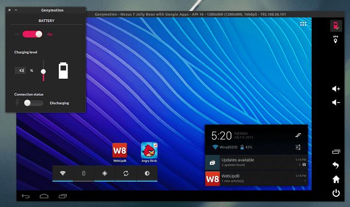 Genymotion windows android emulator
