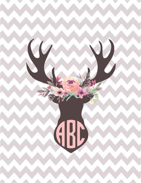 Silhouette monogram printables   Customize online and