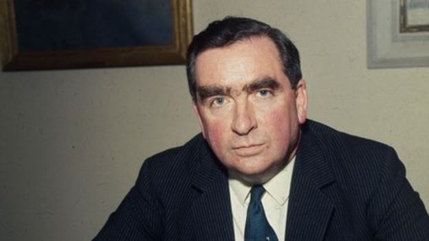 Defence Secretary Denis Healey in 1968
