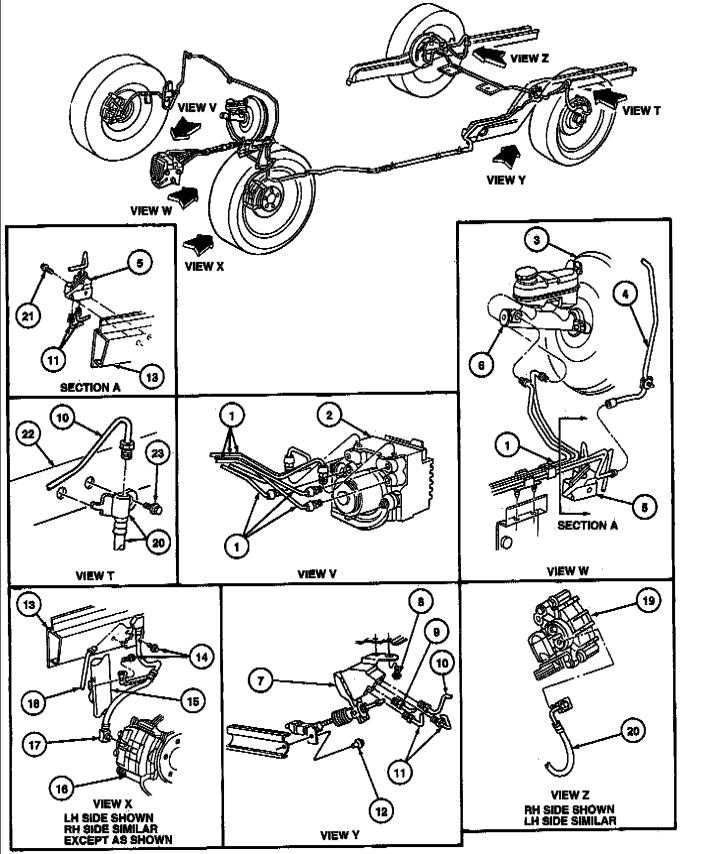 Schematics Of Brake Lines Taurus Car Club Of America Ford Taurus Forum