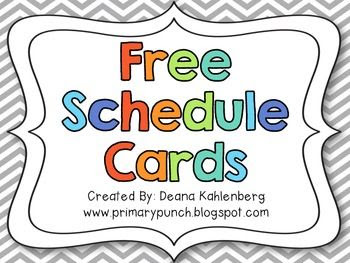 1000+ ideas about Schedule Cards on Pinterest | Daily schedule ...