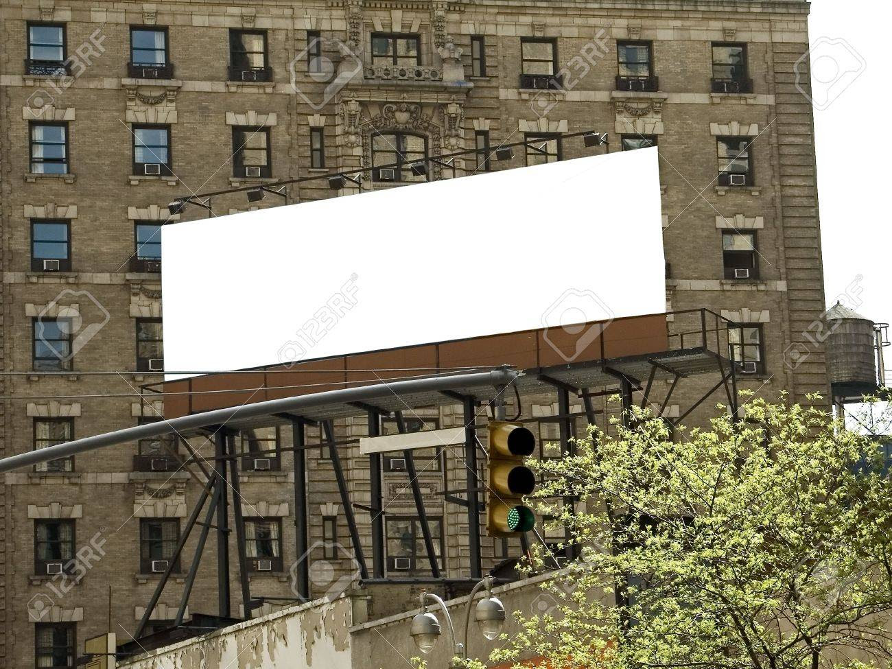 This Is A Blank New York City Billboard All Ready To Be Filled ...