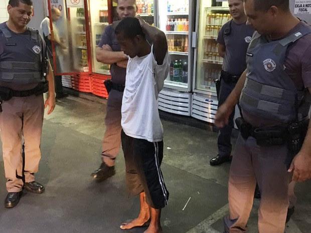Jovem foi preso em flagrante por furto na igreja (Foto: Pastor Otávio Schlender/Arquivo Pessoal)