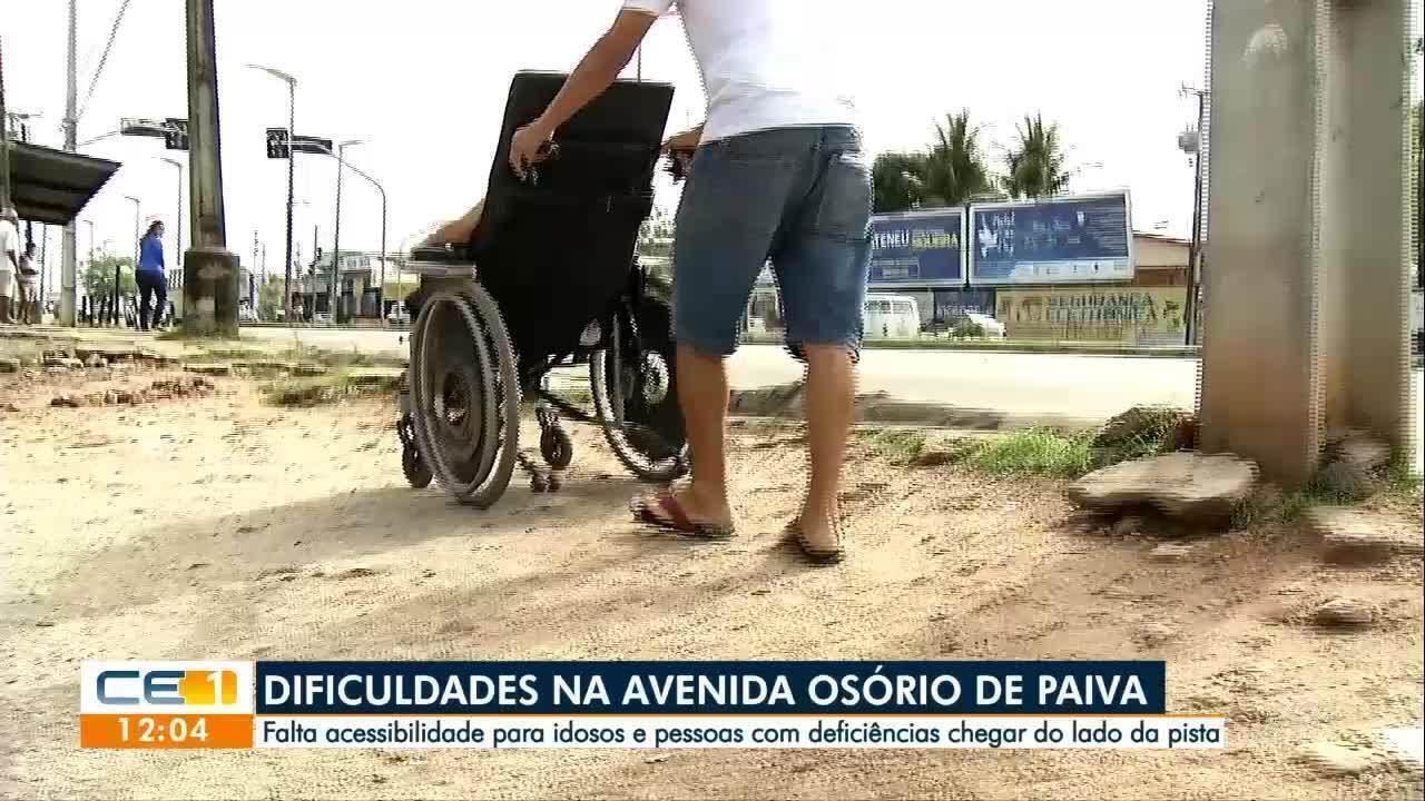 Resultado de imagem para Falta acessibilidade para cadeirantes e idosos na Osório de Paiva