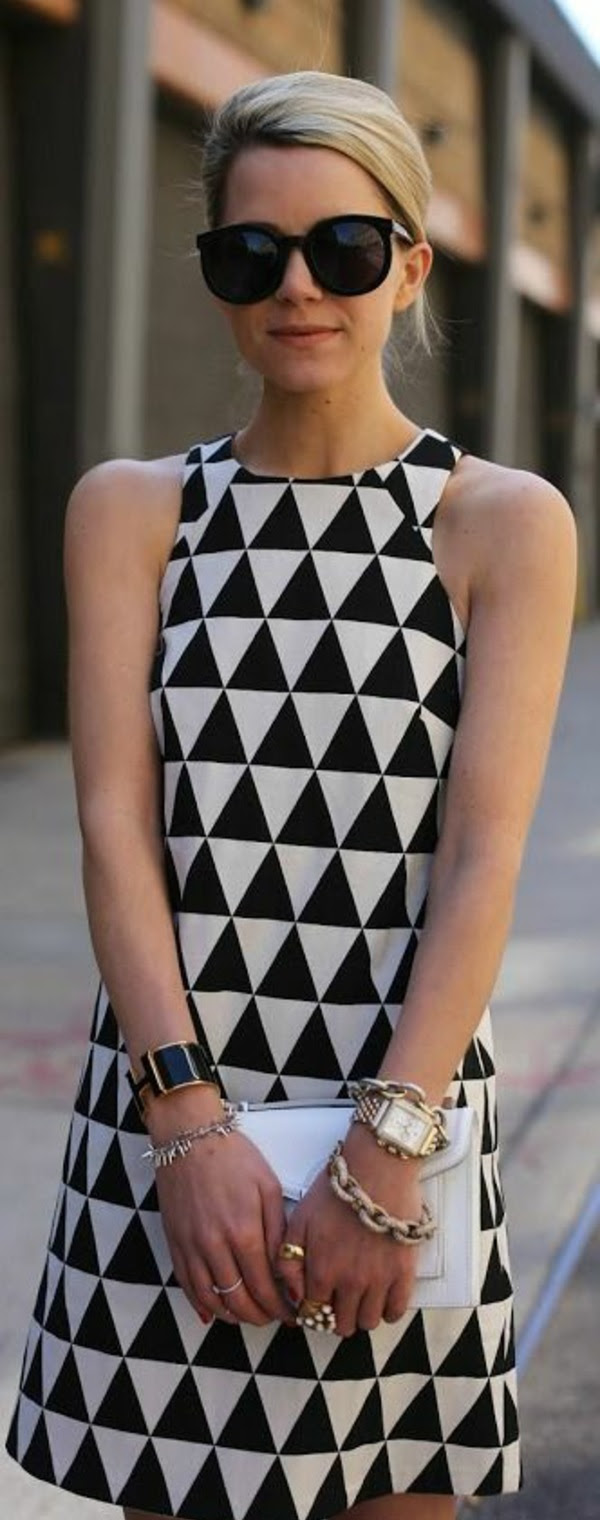 schminktipps: wenn man ein schwarz-weißes kleid trägt